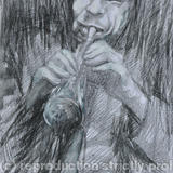 jazz night - charcoal on the paper