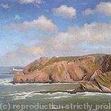 Hartland Point - oil on canvas