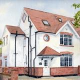 house portrait example - watercolour