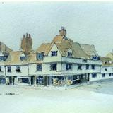 Magdalene Street and Northampton Street, Cambridge - watercolour