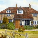 A Pretty Cottage in Sussex - watercolour