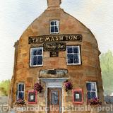 The Mash Tun, Aberlour, Moray - print from my watercolour