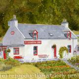 Fiddichside Inn, Craigellachie, Speyside - print from my watercolour