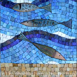 Enamel Fish (Detail) -