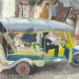 Tuc Tuc - watercolour on arches paper