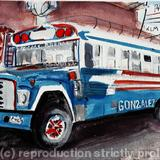Guatemalan Transport - watercolour on arches paper