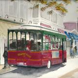 Newport Trolley Rhode island - watercolour on arches paper