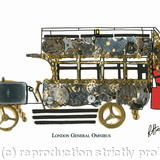 London General Omnibus - watch parts on board