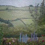 Shropshire Garden - Oil on Board