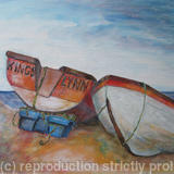 Cley Boats - Acrylic on Board