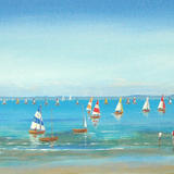Sailing Boat Race - acrylic on 3d canvas