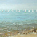 From Shore to Sails - acrylic on 3d canvas
