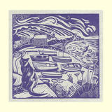 Penberth - Linoprint on Handmade Bhutanese Paper