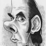 Edd's Heads: Nick Cave - Pencil Drawing