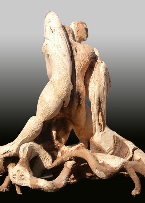 Fallen Angel , view 2. woodcarving	/><link rel=