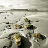 Green Stones on a North Wales Beach - photography