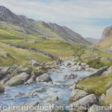 Llanberis Pass from Pont y Gromlech - Oil