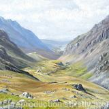 Llanberis Pass in Summer - Oil