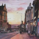 Wakefield Westgate Purple Sunset - Oil