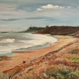 Whitby Abbey from Sandsend summer view - Oil